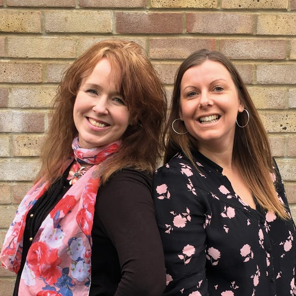 Emma Collins and Jill Pryor - Founders of Blossom Lane Creatives