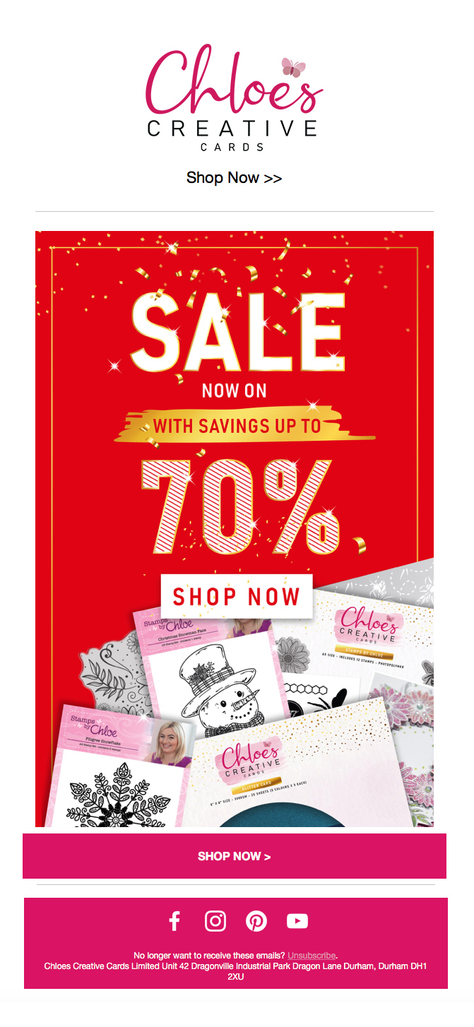 Choloes-Creative-Cards-Jan-2021-Sale - Email Graphic