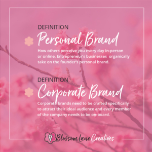 What is a personal brand vs a corporate brand?